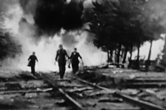 (Out to Lunch) Tags: tv screen shot wwii blackwhite monochrome scene railway line violence fuji xh1 xf 281655 r lm wr