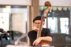 Jerry the bass man (lad49) Tags: bass uprightbass musician makingmusic hat beret sony sonyalpha sonya7iii