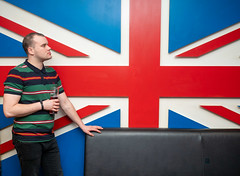 Union Jack, Sergeant Peppers. (CWhatPhotos) Tags: cwhatphotos flickr camera photographs photograph pics pictures pic picture image images foto fotos photography artistic that have which contain digital olympus four thirds penf 17mm prime newcastle upon tyne day out around about fred perry polo union jack flat gb man male pub seargent peppers sergeant portrait red pose top