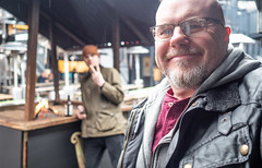 Self me and the lad. (CWhatPhotos) Tags: cwhatphotos flickr camera photographs photograph pics pictures pic picture image images foto fotos photography artistic that have which contain digital olympus four thirds penf 17mm prime newcastle upon tyne day out around about