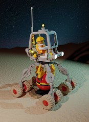 Febrovery 2020 Day 14 : Deploying the Seismic-probe (Littlepixel™) Tags: ncs neo classic space febrovery 2020 lego rover crane bomb seismic richter aliens moon lunar render blender ldraw minifig shaft mining geothermal buggy benny lenny