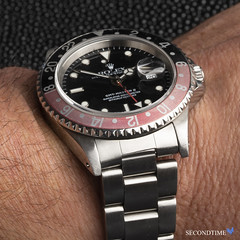 GMT-Master II (A-Series, 1999 Production Year)LS_3 (Secondtime_watches) Tags: rolex oyster perpetual professional gmtmasterii 16710 stainlesssteelcase andoyster bracelet black dialcoke blackredbezelinsert aseries completeboxandpaperssecondtime