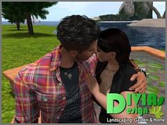 Star Shaped Cuddle Pond 02 (Dina LaVega) Tags: bento couple pond fountain