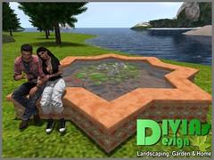 Star Shaped Cuddle Pond 01 (Dina LaVega) Tags: bento couple pond fountain