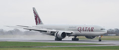 A7-BAJ Qatar Airways Boeing 777-3DZ(ER) 3 (ahisgett) Tags: ringway manchester man airliner