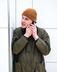 On the phone. (CWhatPhotos) Tags: cwhatphotos flickr camera photographs photograph pics pictures pic picture image images foto fotos photography artistic that have which contain digital olympus four thirds penf 17mm prime newcastle upon tyne day out around about