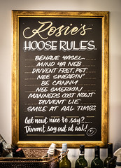 House Rules. (CWhatPhotos) Tags: cwhatphotos flickr camera photographs photograph pics pictures pic picture image images foto fotos photography artistic that have which contain digital olympus four thirds penf 17mm prime newcastle upon tyne day out around about rosies sign house rule rules board pub geordie