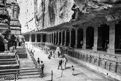 Unsupported ceiling, Kailasa Temple (gambat) Tags: ellora deccan kailasa kailasanathatemple rashtrakutas maharashtra aurangabad eos70d canon canon70d monochrome unescoheritagesite