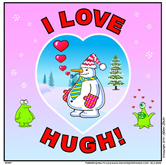 Especially for Hugh! (nikki. bass) Tags: animationseries aliens cute comedy cool cartoons contemporary colour cartoonstrips different extraterrestrial entertainment episodes funny friendly funcartoon green greetingscard humor nikkibass jokes kawaii marstv new valentines hearts original outerspace unique robot redplanet strips spaceships theredplanet ufos snowman toons upbeat marstvbynikkibass webtoon