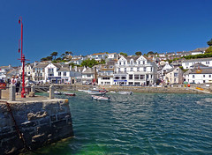 St Mawes Harbour (Cornishcarolin.) Tags: cornwall httpstmawesinfo harbour water quay shops hotels people