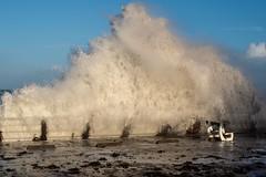 Ca gâche un peu la vue, non ? (Patrick Doreau) Tags: tempête storm eau water vague wave mer sea pléneufvalandré côtesdarmor bretagne brittany hiver winter