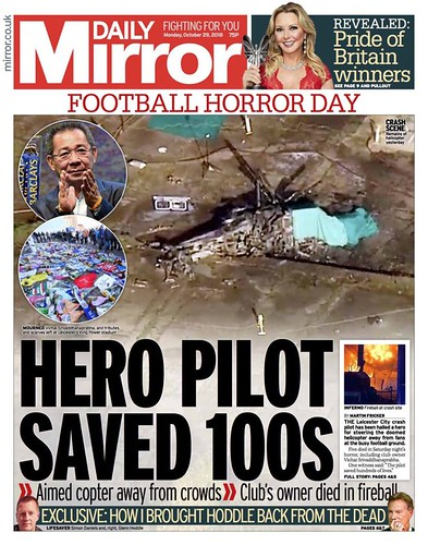 27th October 2018 - Leicester City Helicopter Crash - Daily 3