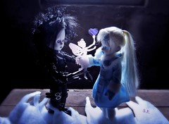 Valentine's Day in the old Attic (pianocats16) Tags: edward scissorhands frozen charlotte living dead dolls doll tim burton old attic
