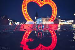 Happy Valentine's Day (Fredrik Lindedal) Tags: valentine reflection reflections heart gothenburg göteborg glow puddle puddlegram water lindedal sweden sverige valentinesday