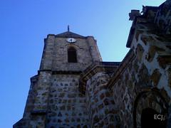 La catedral de Puntarenas/ The cathedral of Puntarenas (vantcj1) Tags: torre cielo iglesia templo arquitectura patrimonio urbano ciudad viaje paseo piedras mampostería reloj ventana decoración catedral