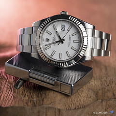 Datejust II 41mm Stainless Steel_LS_1 (Secondtime_watches) Tags: rolex oyster perpetual datejustii 116334 stainlesssteel case bracelet 18ktwhitegoldflutedbezel whitedialwithluminousstickmarkers factoryappliedprotectionstickers box paperssecondtime