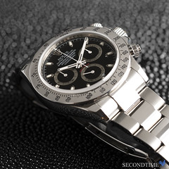 Cosmograph Daytona in Stainless Steel (G series, 2011 Production)_LS_1 (Secondtime_watches) Tags: rolex daytona 116520 steel steeldaytona blackdial secondtime