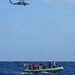 U.S. Sailors conduct Search and Rescue drills during Boat and Flight Operations aboard the USS Blue Ridge
