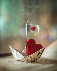 Happy valentine's day! (Ro Cafe) Tags: extensiontubes heart lookingcloseonfriday pentacon50mmf18 stilllife closeup paperboat flash bokeh colorful valentinesday romantic sonya7iii