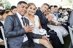 140220 Alcalde Jorge Muñoz en ceremonia de matrimonio comnitario en el Circuito Mágico de Las Aguas 017 (FOTOGRAFIA MML) Tags: parque aguas reserva circuito matrimonio comunitario alcalde muñoz bandera bicicleta gtu masivo selfie discurso febrero dia del amor valentin san