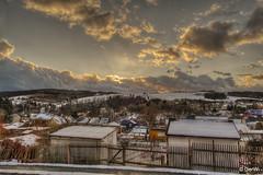 Hirschberg ( Thüringen, Germany ) (GerWi) Tags: hirschberg sonnenuntergang sunset thüringen sonne himmel wolken clouds stadt dorf tal