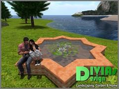 Star Shaped Cuddle Pond 03 (Dina LaVega) Tags: bento couple pond fountain