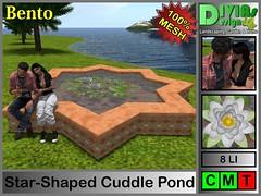 Star Shaped Cuddle Pond_000 (Dina LaVega) Tags: bento couple pond fountain