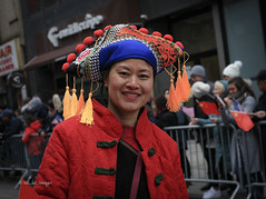 Chinese New Year NYC 2020 (tai_lee2) Tags: festival chinese lunar new year nyc costume hat dance dancer march people person flag balloon banner street barrier building happy red gold
