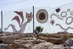Happy Fence Friday (Poupetta) Tags: fence dolfinarium embroidery telaviv