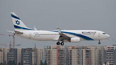 Delivery flight - El Al B738, 4X-EKK, WOE-TLV (LLBG Spotter) Tags: aircraft 4xekk tlv b737 llbg elal airline