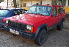 1995 Jeep Cherokee 2.5 TurboDiesel (FromKG) Tags: jeep cherokee 25 turbodiesel red car kragujevac serbia 2020