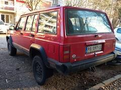 1995 Jeep Cherokee 2.5 TurboDiesel (FromKG) Tags: jeep cherokee 25 turbodiesel red car suv kragujevac serbia 2020
