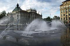 Karlsplatz Fountains (AntyDiluvian) Tags: germany deutschland munich muenchen german 2015 square plaza platz fountains karlsplatz stachus