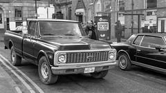 FXE30445-1-2 (Lawrence Holmes.) Tags: fuji xe3 xf27mm 27mm blackandwhite chevrolet pickup truck film filmscene netflix newyork thecrown manchester uk lawrenceholmes