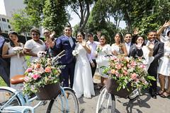 140220 Alcalde Jorge Muñoz en ceremonia de matrimonio comnitario en el Circuito Mágico de Las Aguas 006 (FOTOGRAFIA MML) Tags: parque aguas reserva circuito matrimonio comunitario alcalde muñoz bandera bicicleta gtu masivo selfie discurso febrero dia del amor valentin san