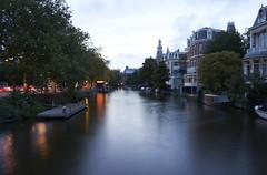 Channel II (mchurruca) Tags: amsterdam channel dusk clouds long exposure le water twilight city