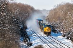 Tier 4 Blizzard (Carlos Ferran) Tags: emd st70ac tier 4 locomotive railroad progress rail snow winter indianapolis line rural sweeping curve blizzard q008