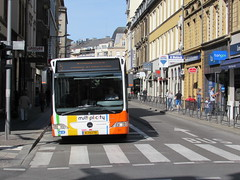 Luxembourg City: Rue Jean Origer (Luxembourg) (michaelday_bath) Tags: luxembourg bus