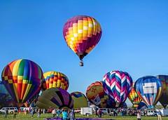 Dawn Song II and group (ABQ) (edit) (MO FunGuy) Tags: 2019albuquerqueinternationalballoonfiesta newmexico hot air balloon