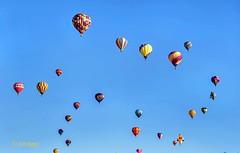 Balloon 84 group (ABQ) (edit) (MO FunGuy) Tags: 2019albuquerqueinternationalballoonfiesta newmexico hot air balloon