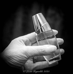 Day 44 (lizzieisdizzy) Tags: perfume parfum esteelauder beautiful fragrance scent floral glassbottle bagsize handy gift present