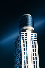 Blue Hafnium (Holger Glaab) Tags: frankfurt frankfurtammain henningertower henningerturm longexposure travel travelphotography architecture fineart fineartarchitecture skyscraper tower building city urban