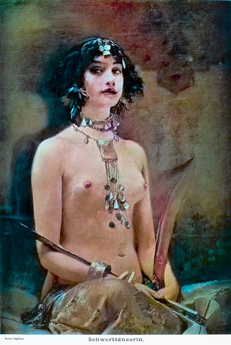 Bruno Piglhein (1848-1894) - Egyptian Sword Dancer (before 1891) (colorized 2)