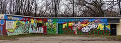 Malco Laminated Inc.'s Mural (J Wells S) Tags: mural salvidordali picasso wallart streetart malcolaminatedinc urban urbanstreetart urbanmural art northside cincinnati ohio pano panorama