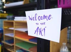 Bienvenue (John Graham X) Tags: arts crafts sign handwritten playtime paper
