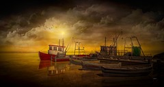 Resting ((Landscapes) Happy and prosperous 2020!) Tags: digital art landscape photography boats boat ships fishing color virtual