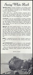 c. 1945 White Rock, B.C. Board of Trade Pamphlet - The Safest, Sandiest, Sunniest, Summer Resort on the Pacific Coast (page 2) (Treasures from the Past) Tags: whiterock britishcolumbia bc tourism brochure beach pier pamphlet travel whiterockboardoftrade 1945 semiahmoobay