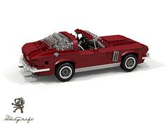 Iso Grifo GL Series I Targa 1966 (lego911) Tags: iso grifo series 1 1966 targa v8 gm chevrolet corvette italian luxury sportscar auto car moc model miniland lego lego911 ldd render cad povray 1960s classic coachbuilt bertone gl