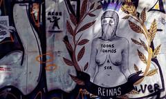 REINAS (jpi-linfatiko) Tags: nikon d7200 sigma1770 calle street city ciudad graffiti grafiti urbana urban urbano exterior murallas muros mensajes messages protest protesta