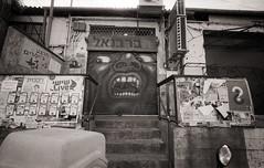 Tel Aviv (Valentine Kleyner) Tags: telaviv israel street city film bw ultarfinextreme400 fomadon foma leica voigtlander heliar graffiti